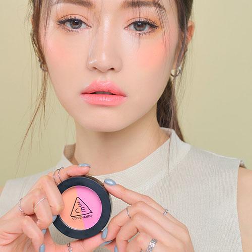 [3CE] Duo Color Face Blush #Miss Flower