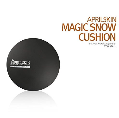 [AprilSkin] Magic Snow Cushion SPF50+ / PA+++ (15g) #21 Light Beige