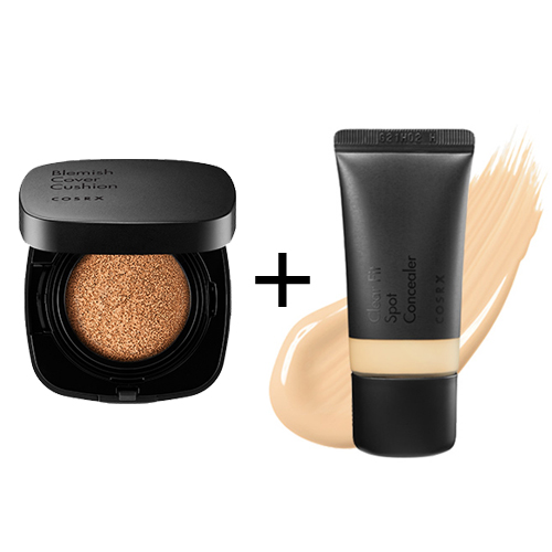 [COSRX] *Renewed* Blemish Cover Cushion #21 + Clear Fit Spot Concealer #21