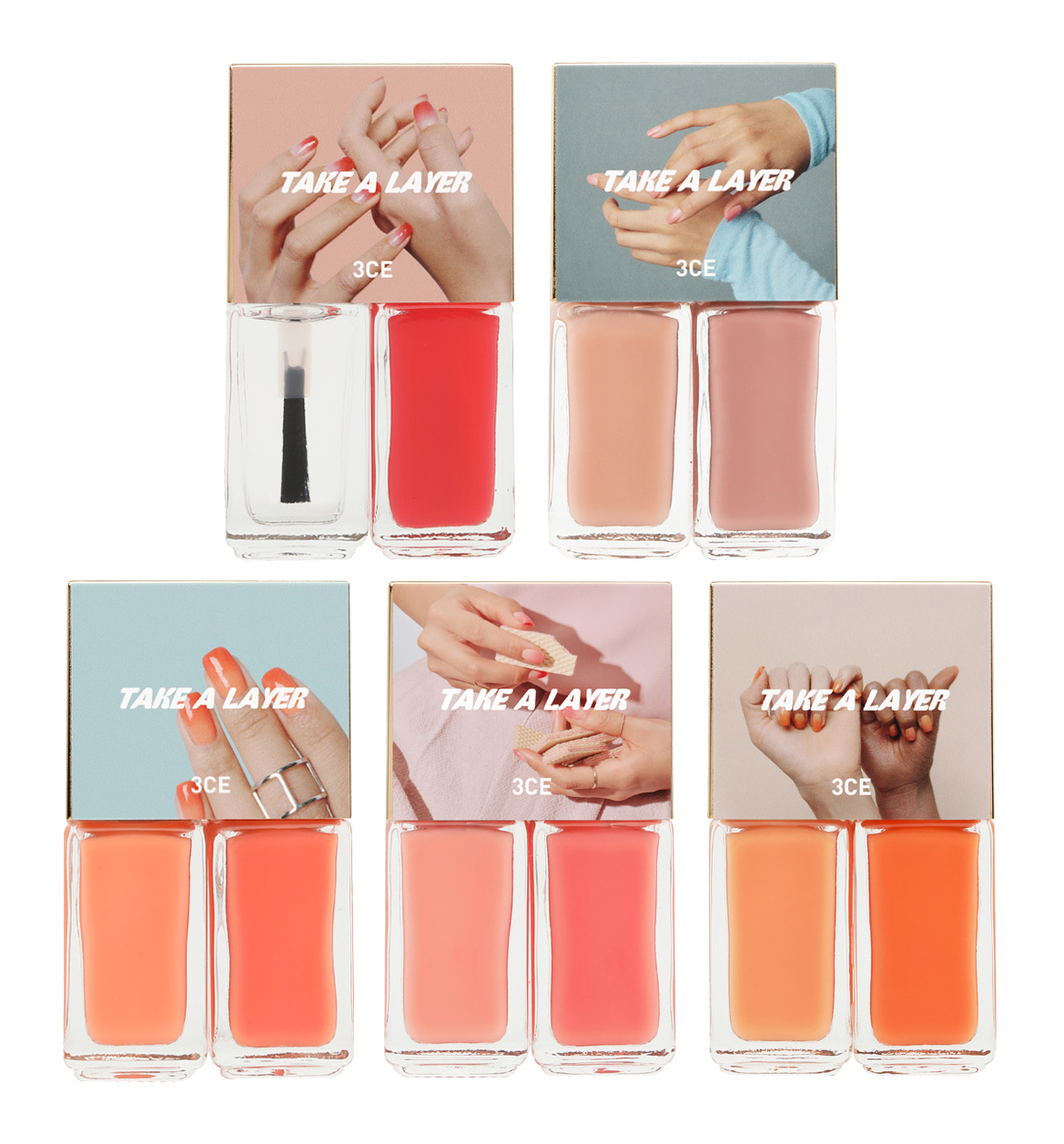 [3CE] Take A Layer Layering Nail Lacquer (Soft Orange)