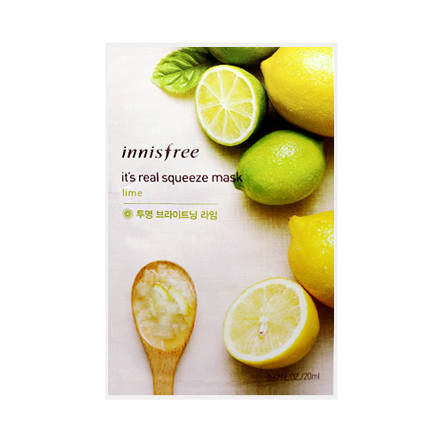 [Innisfree] It's Real Squeeze Mask Sheet (Brightening Lime) 20ml