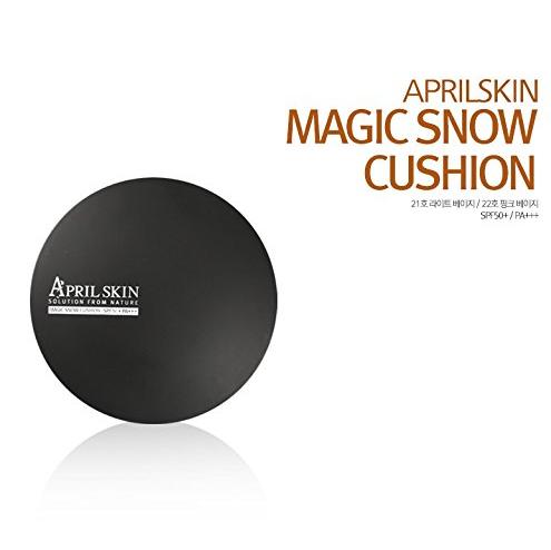 [AprilSkin] Magic Snow Cushion SPF50+ / PA+++ (15g) #21 Light Beige