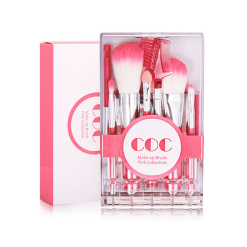 [CORINGCO] Takeout Brush Kit Make Up Brush Pink Collection