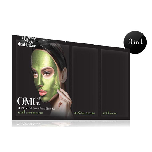 [double dare] OMG! Platinum Green Facial Mask Kit