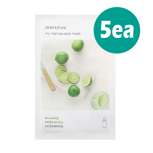 [Innisfree] My Real Squeeze Mask 5ea (Lime)