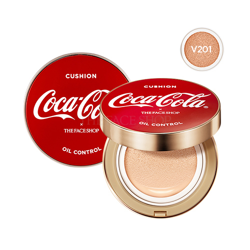 [THE FACE SHOP] Oil Control Water Cushion (Cocacola Edition) V201